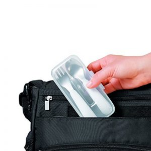 OXO Tot On The Go Fork and Spoon Set with Carrying Case Image
