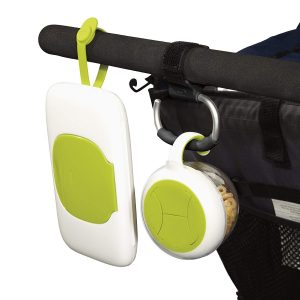 OXO Tot Stroller Hook with items hooked in