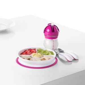 OXO Tot Stick and Stay Divided Plate lifestyle picture