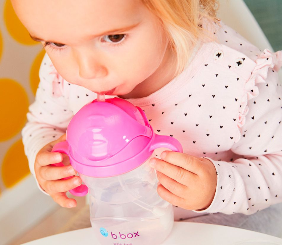 b.box  Sippy Cup With Innovative Weighted Straw  ( bbox )